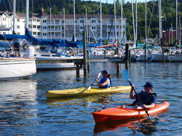 Kayakers on Seneca Lake