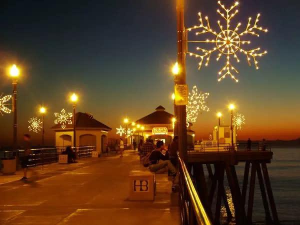 Lights on pier