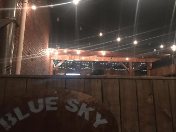 The rooftop patio of BlueSky.