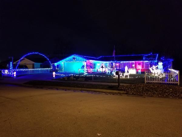 4831 Timberland Drive - Best Christmas Lights Display - EAST