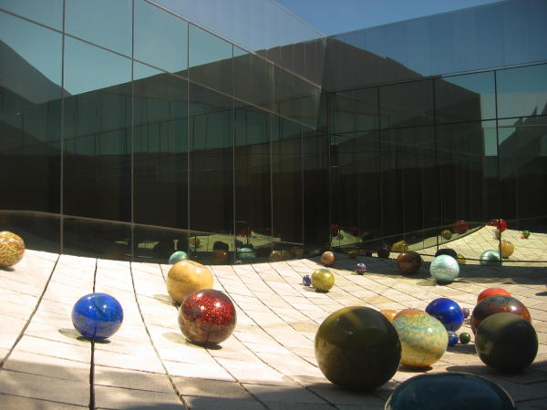 Glass balls at Tacoma Art Museum (TAM) in Tacoma, Washington
