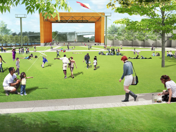 North Waterfront Park Rendering of Music Venue
