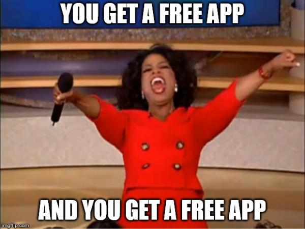 free app meme