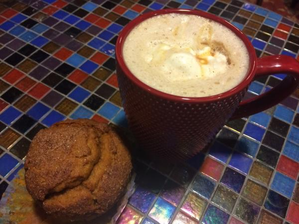 The Living Room Latte and Muffin