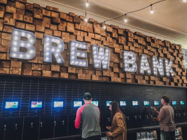 Brew Bank Topeka, KS | Beer Wall - Rebekah Baughman