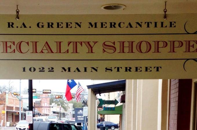 RA Green Mercantile Sign