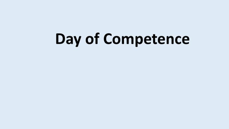Day of compentense u/dato