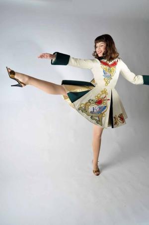 Irish Step Dancer costume