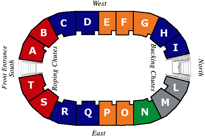 Mid Winter Fair Rodeo Seating Chart