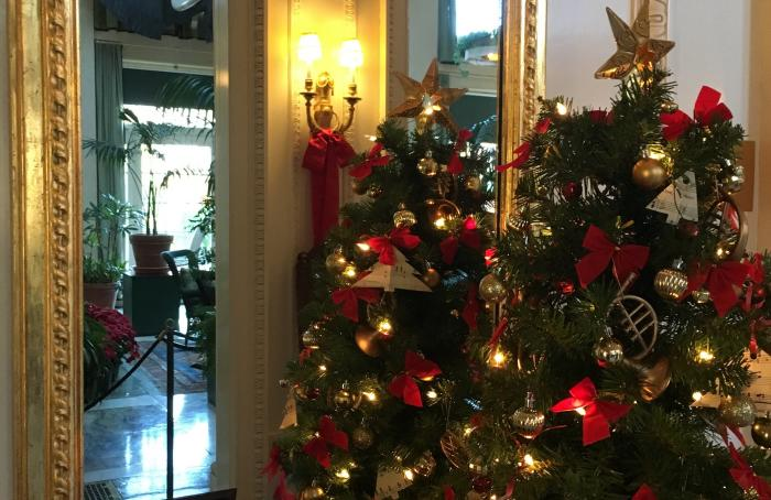 Christmas Trees Decorated for the season at Eastman Museum