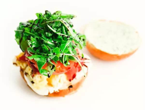 Ham and egg sandwich