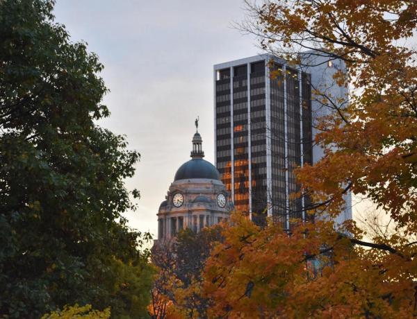 Allen County Courthouse Skyline - Fall in Fort Wayne, IN