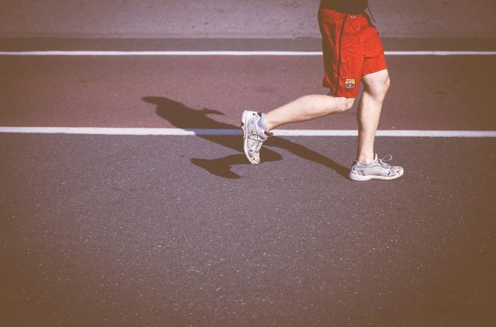 Runner on a high school track