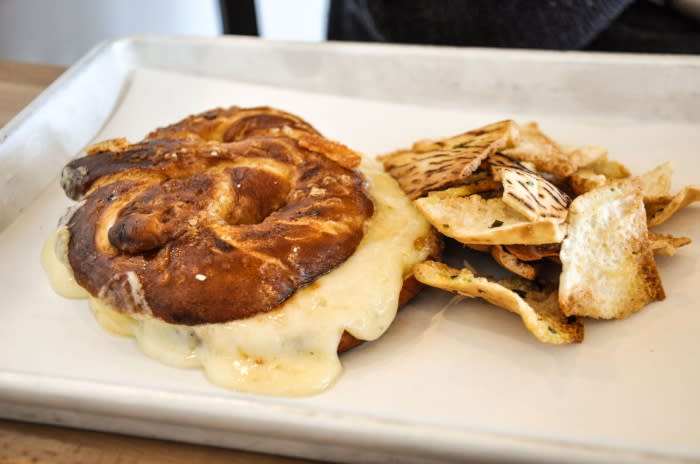 Around Eatery: Pretzel Grilled Cheese