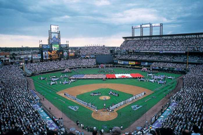 coors field home of the colorado rockies