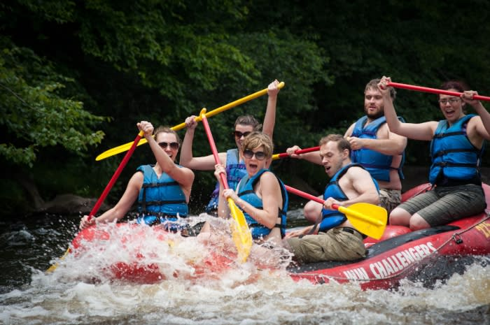 Whitewater Rafting in the Pocono Mountains