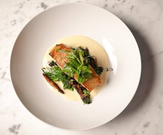 The Salmon Soy is just one of several fresh and healthy options coming out of Restaurant Calla.