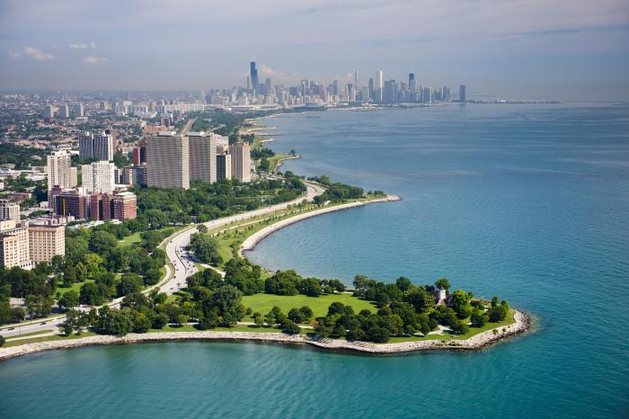 Promontory Point in Hyde Park Chicago