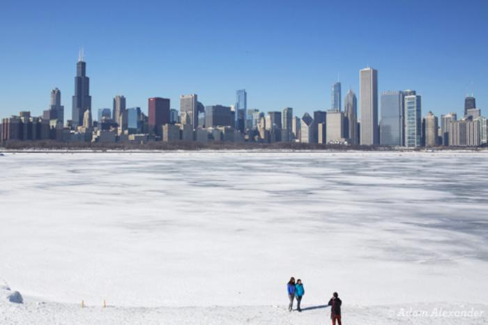 Frozen Lake in Chicago