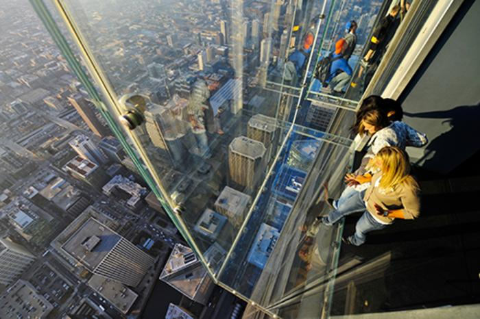 The Ledge Glass Viewing Balcony at Skydeck in Willis Tower aka Sears Tower