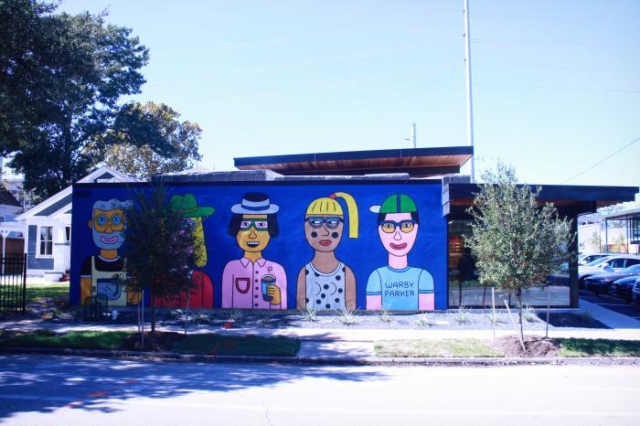 Heights Mercantile street murals