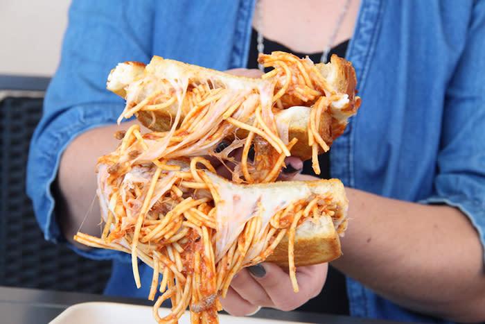 Spaghetti Sandwich at Burnt Crumbs