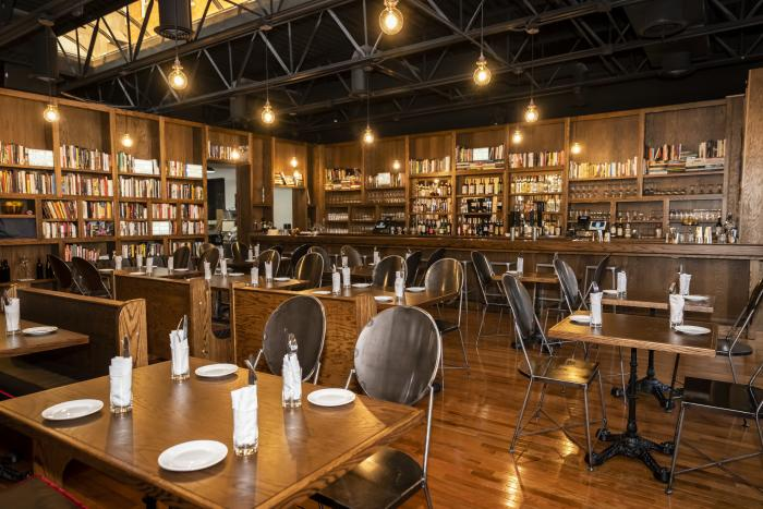 The interior of Bibliophile in Hyde Park