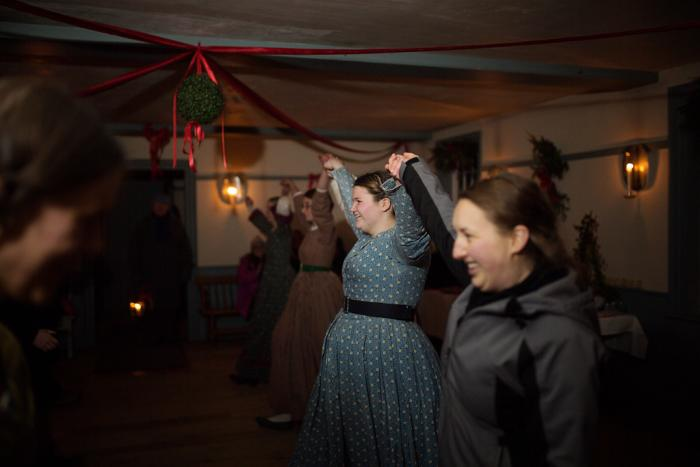 Dancing at Yuletide in the Country