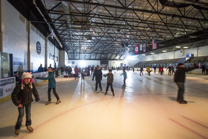 indoor ice skating at Stroll on State
