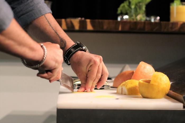 YNK California Menu slicing fruit