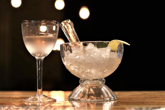 YNK California Vodka Feeling Dirty Straight to the Dome Lemon Peel Drink