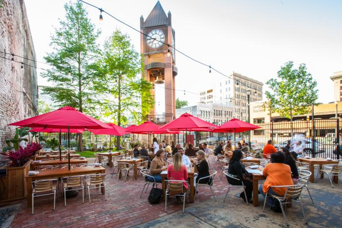 Outdoor Dining Patio at Houston Restaurant