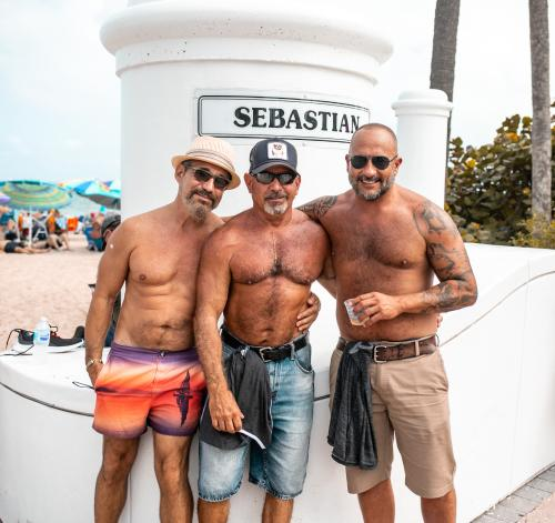 Sebastian Street Beach, one of the best gay beaches in the U.S., is close to dozens of beachfront resorts, hotels, and accommodations in Fort Lauderdale.