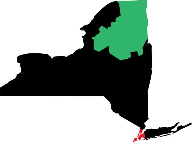 NYC to Adirondacks Map