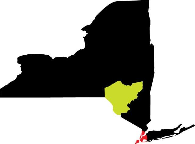 NYC to Catskills Map