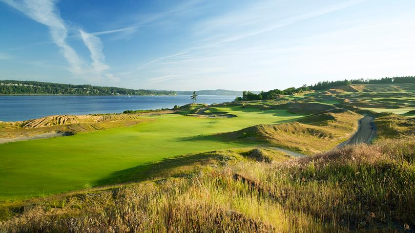 Chambers Bay Golf Course in University Place, WA.