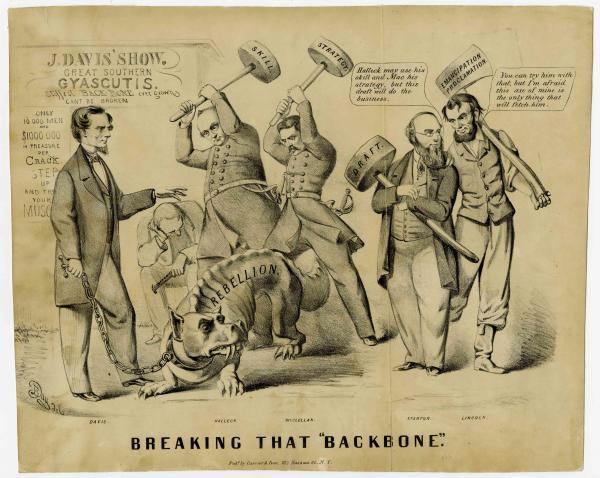 Lincoln Backbone political cartoon