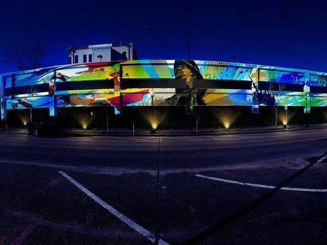 jefferson street parking garage mural