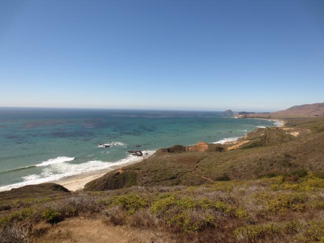The view from Andrew Molera State park, one of the many beautiful beach stops that can be made along