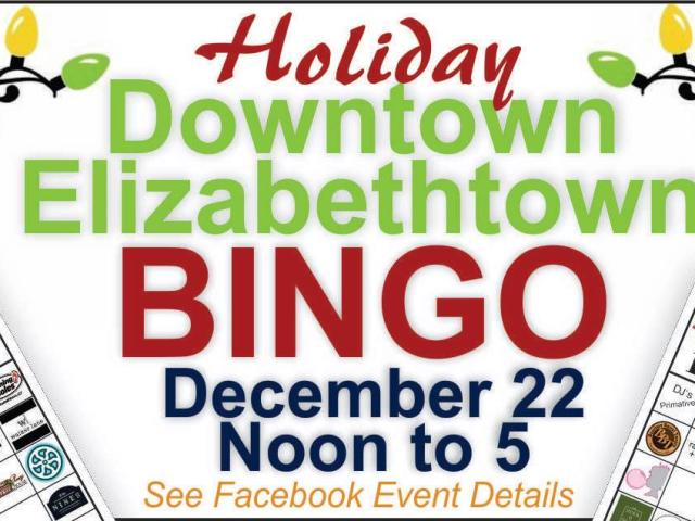 Holiday Downtown Elizabethtown Bingo