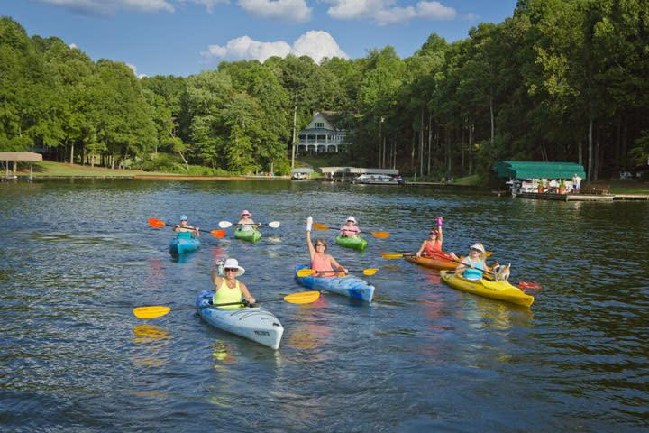 Kayaking on Lake Sinclair