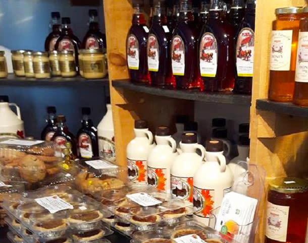 Tasty shop shelf at Richardsons