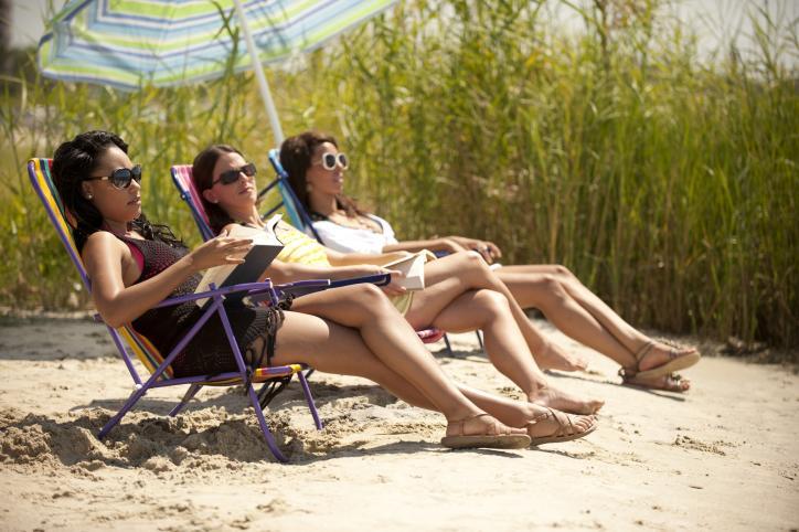Sunbathing at the beach | Lake Charles Girlfriends Getaway