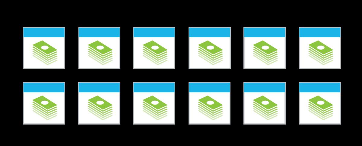 DTN: Stacks of cash pattern