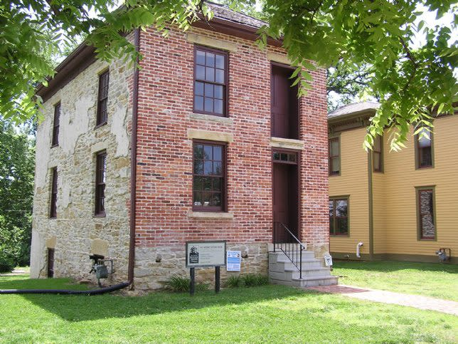Ritchie House in Topeka, one of the 21 Underground Railroad sites in Kansas
