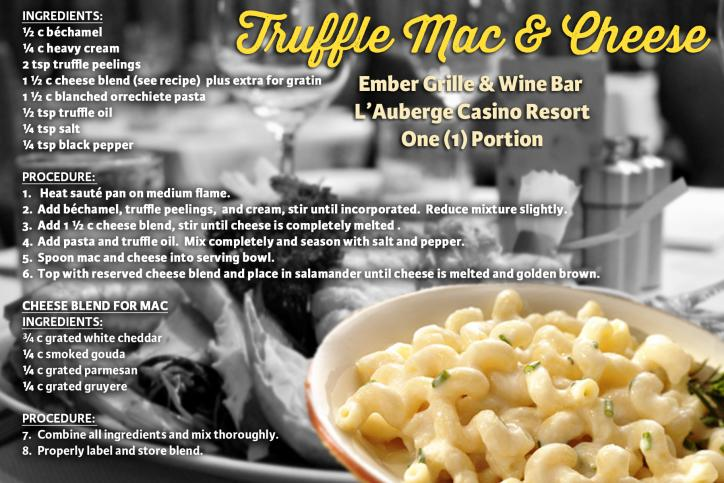 Truffle Mac & Cheese Recipe Card