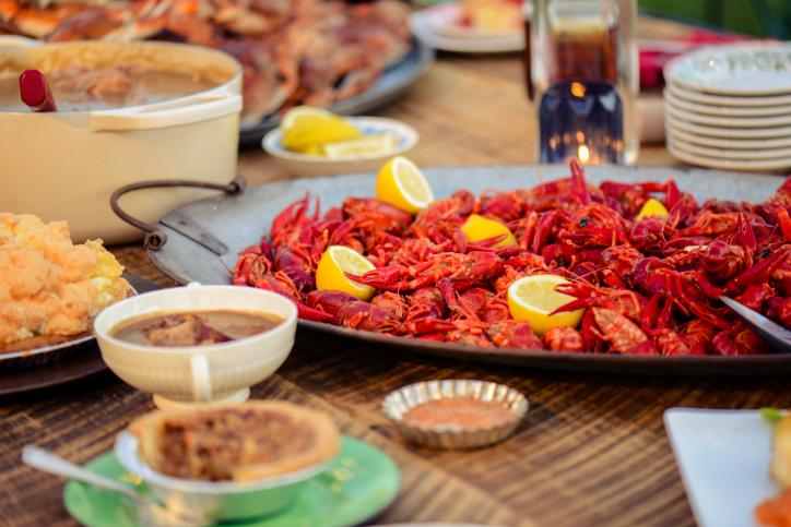 Crawfish Dinner Table - Credit LindseyJanies.com