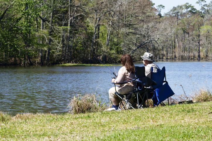 Fishing at Sam Houston Jones State Park