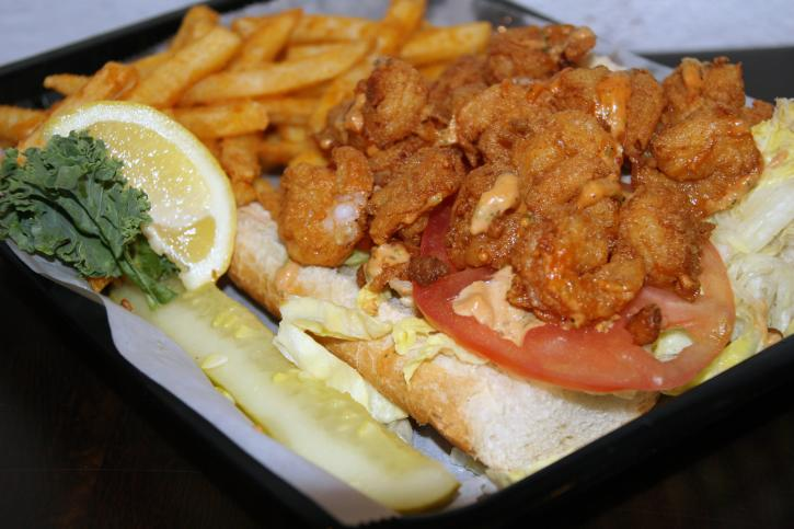 Riptides Shrimp Po Boy