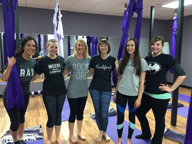 aerial yoga group